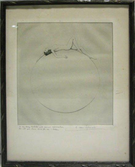5013: C.Allen Sherwin etching, female nude