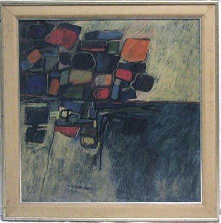 5016: Kline oil on masonite, abstract