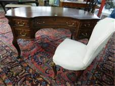 Rococo Revival Kidney Shaped Desk & Chair