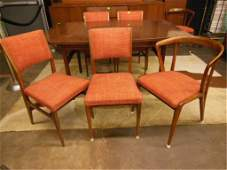 Danish Modern Style Dining Room Table & Chairs