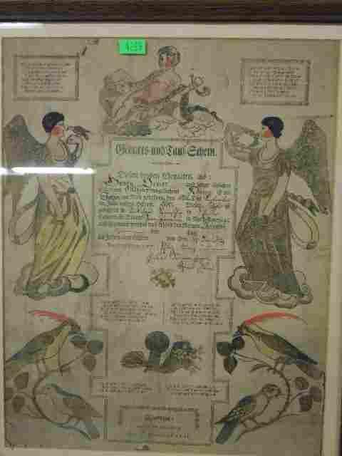 Johann Ritter Birth & Baptismal Fraktur