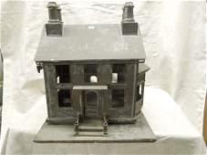 American Folk Art Tin House Model