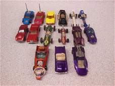 15 Hot Wheels and Matchbox race  other cars