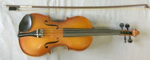 55: Romanian child's viola labeled Stradivarius