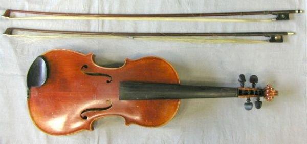 58: German violin labeled Paul Saffran & Son