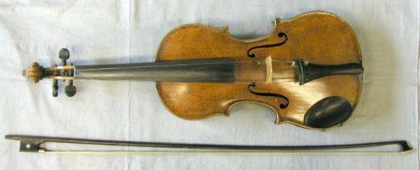 62: German violin labeled Joannes Biptista Guadagnini