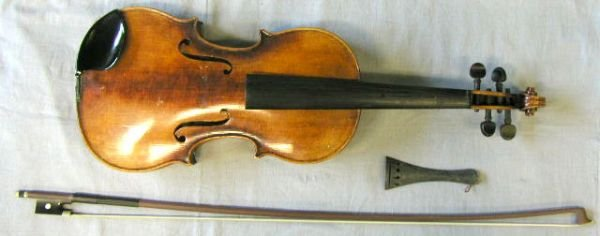 64: German violin labeled C. Meisel