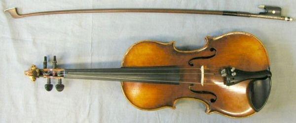 67: 3/4 size German violin Stradivarius model