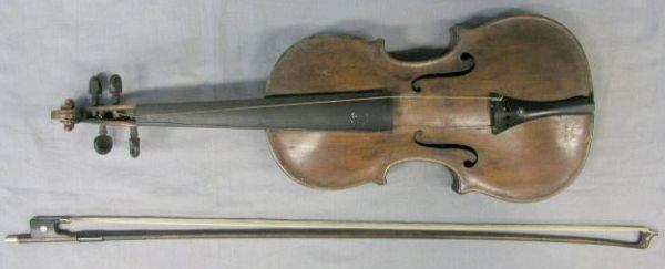 "87: German violin ""Cremonae"" label, early 19th c"