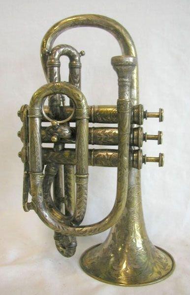 338: J. Henri Murchard brass cornet