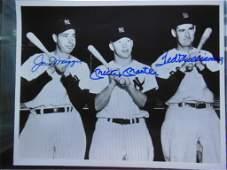 DiMaggio, Mantle & Williams Group Photo