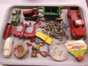 Lot Vintage Toy Trucks, Games & Other