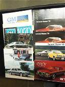 10 General Motors Car Brochures 70s1980