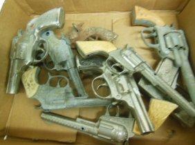 9 Vintage Metal Cap Guns