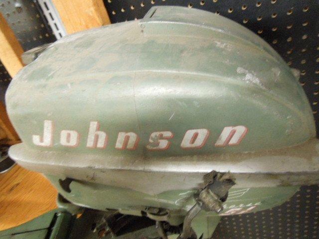 Vintage Johnson Seahorse 5.5 HP Tiller Boat Engine - 3