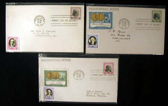 2: Poster Stamp Cachet Presidential First Day Covers