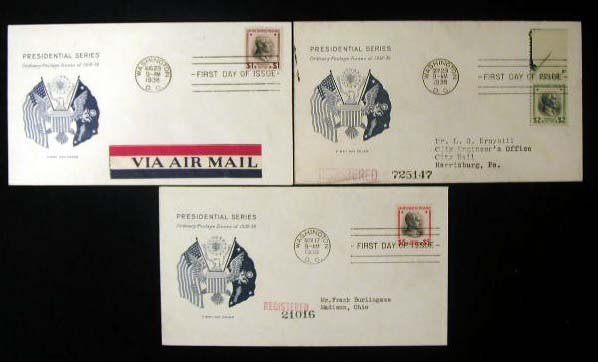 11: Grimsland 1938 Presidential First Day Covers