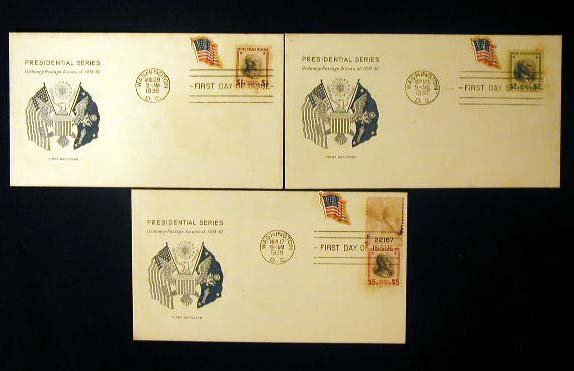12: Grimsland 1938 Presidential First Day Covers