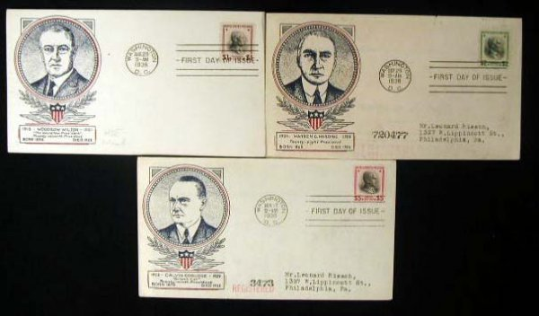 15: Clifford 1938 Presidential First Day Covers