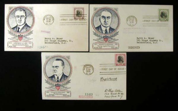 16: Clifford 1938 Presidential First Day Covers