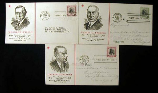 17: Linprint 1938 Presidential First Day Covers