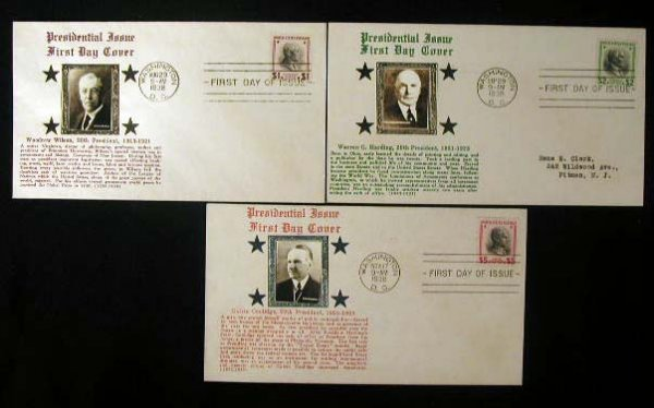 19: Crosby 1938 Presidential First Day Covers