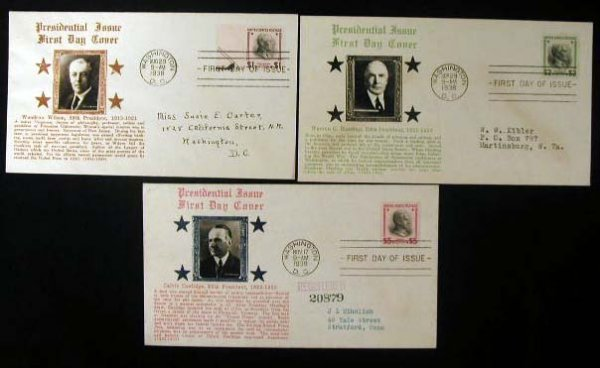 21: Crosby 1938 Presidential First Day Covers