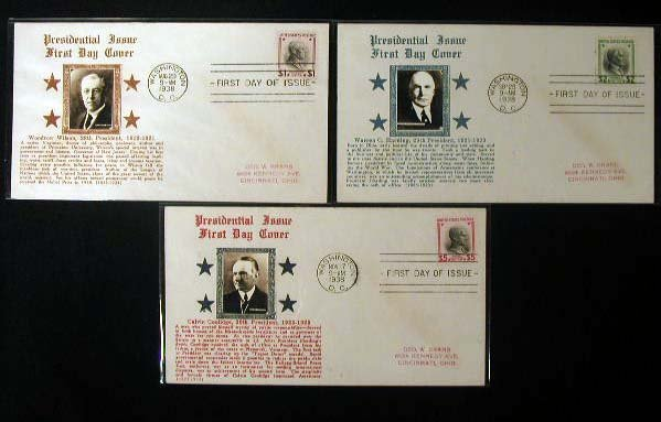 22: Crosby 1938 Presidential First Day Covers