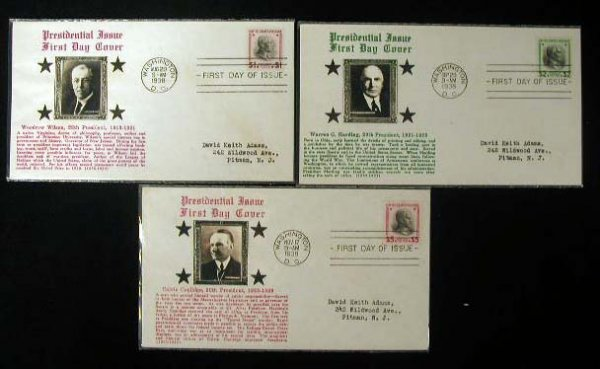 23: Crosby 1938 Presidential First Day Covers