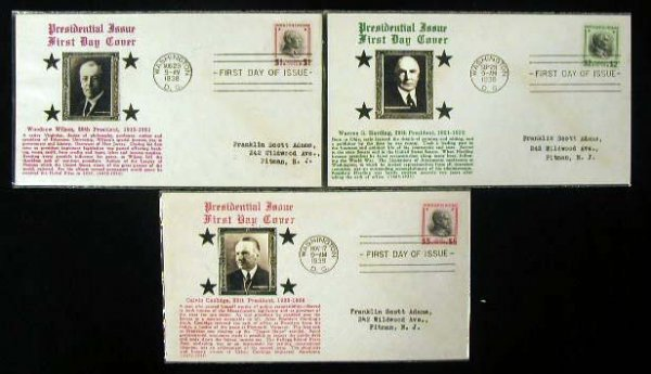24: Crosby 1938 Presidential First Day Covers