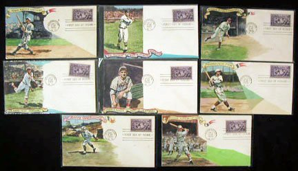 228: 1st Day Covers S.Gram Nat. League Hall/Famers