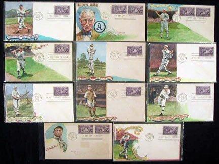 229: 1st Day Covers S.Gram Phila Athletics HOF 1939