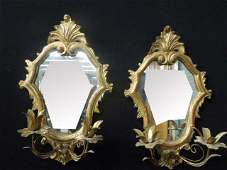 Pair of Italian Baroque Style Mirrored Sconces