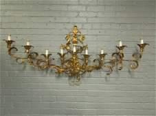 Mid Century Gilt Metal Wall Sconce
