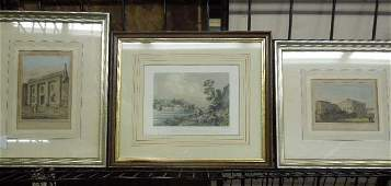 3 Framed French Engravings of Philadelphia