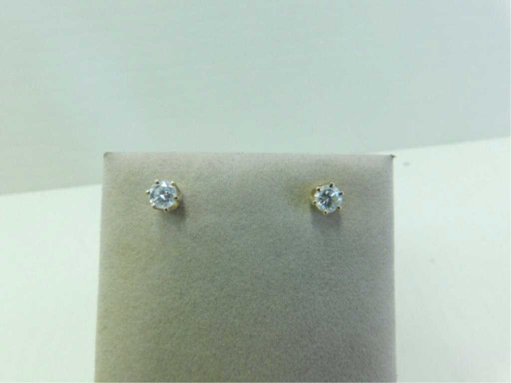 14k YG Diamond Stud Earrings