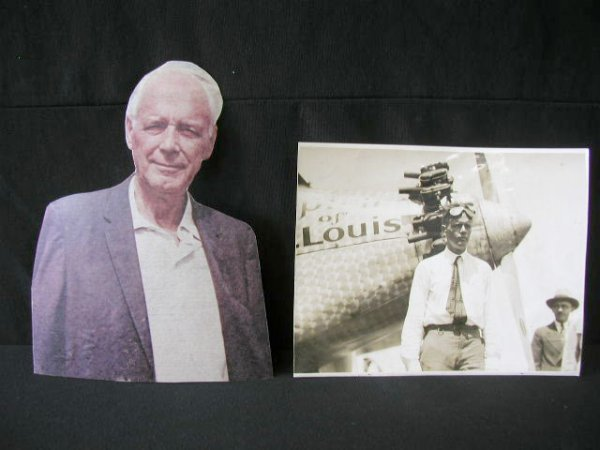 1010: C Lindbergh Photo, Signed & Press Photo