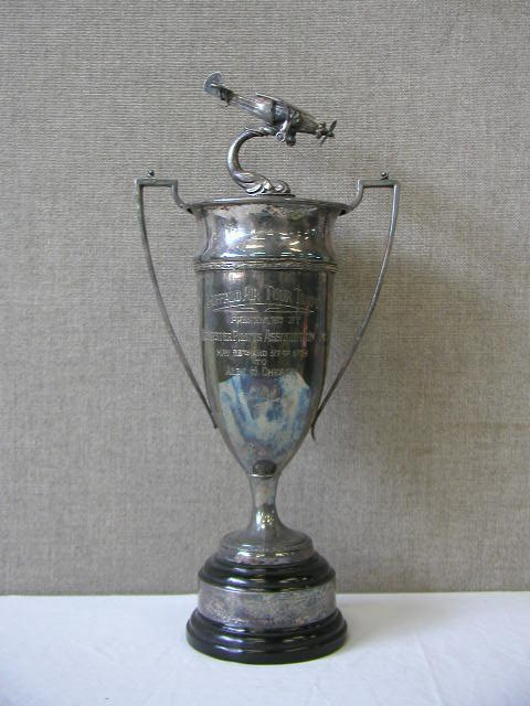 1013: 1934 Buffalo Air Tour Silver plated Trophy