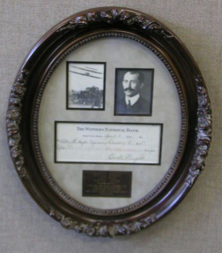 1022: Orville Wright Signed Check Display