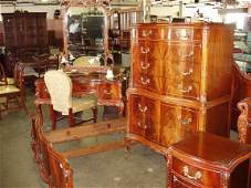 1123B 9 pc Chippendale style bedroom set
