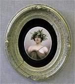 1142: Sevres painted porcelain portrait plaque