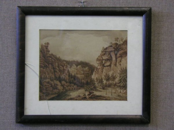 3003: Th. Fruauf Signed,Titled Watercolor