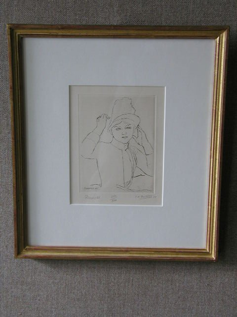3010: Pierre Auguste Renoir Signed Etch