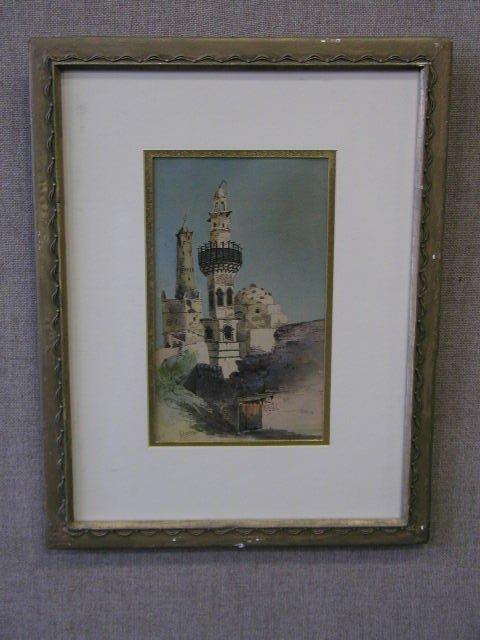 3013: Alfred Elsen Signed Watercolor