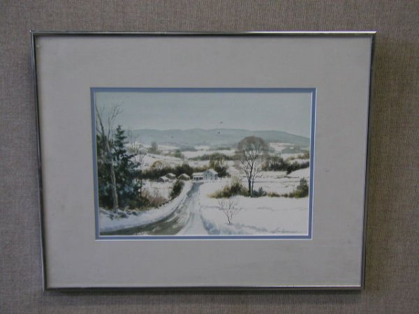 3014: Keith Hoffman Signed Watercolor