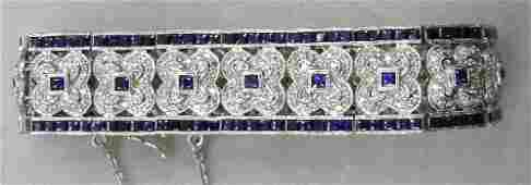 18K WG Diamond & Sapphire Bracelet
