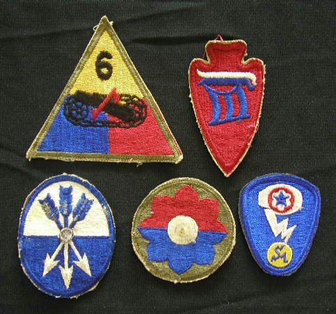4010: 6 Military Patches
