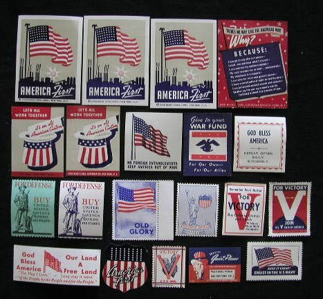 4023: 20 Patriotic Labels