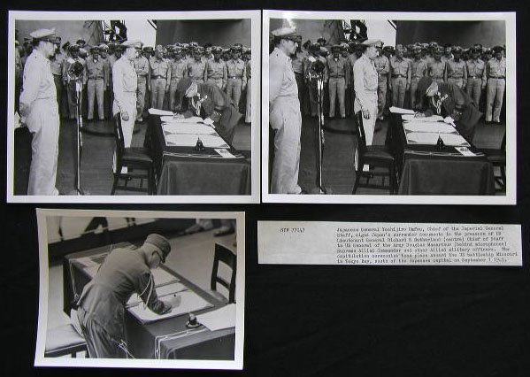 4055: Japanese Surrender Signing Photos
