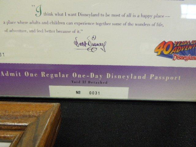 Framed 1995 Disneyana Passports & Other - 2